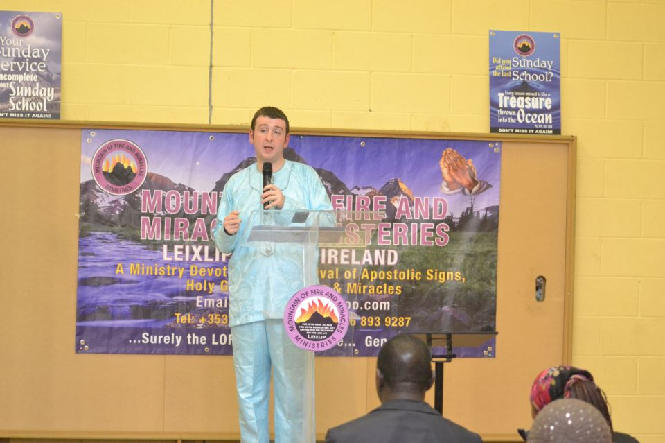 Pastor Joseph at MFM Region 8  Ireland